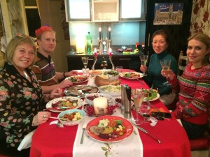 New Year's meal with Kate's family