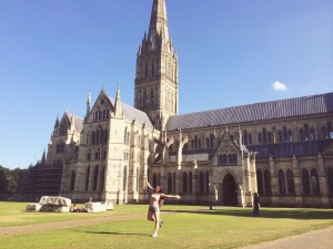 Me at Salisbury Cathedral