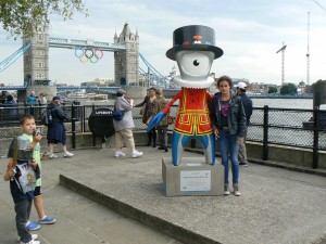 With Wenlock in Tower Bridge