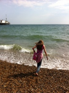 Paddling in the Sea at Brighton
