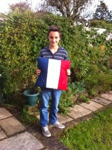 French Flag Cushion