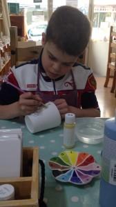painting a pot